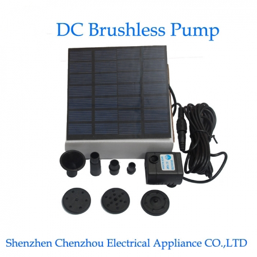 What are the components of the solar water pump?